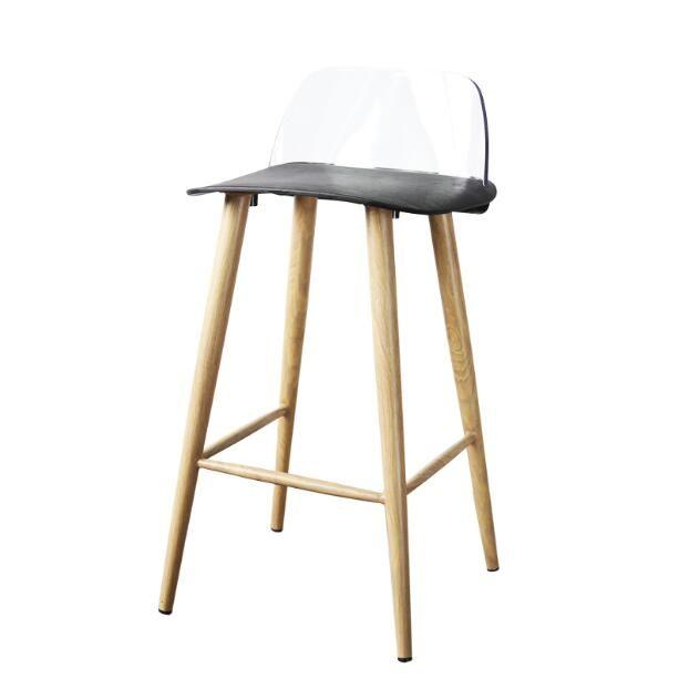 Yingyi Free Shipping Modern Leisure Plastic Dining Bar Chair Black