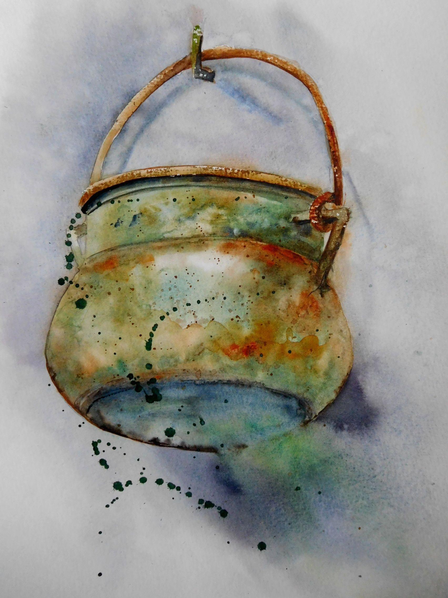 Pot Rouille De Anne Larose Contemporary Art Artists Art