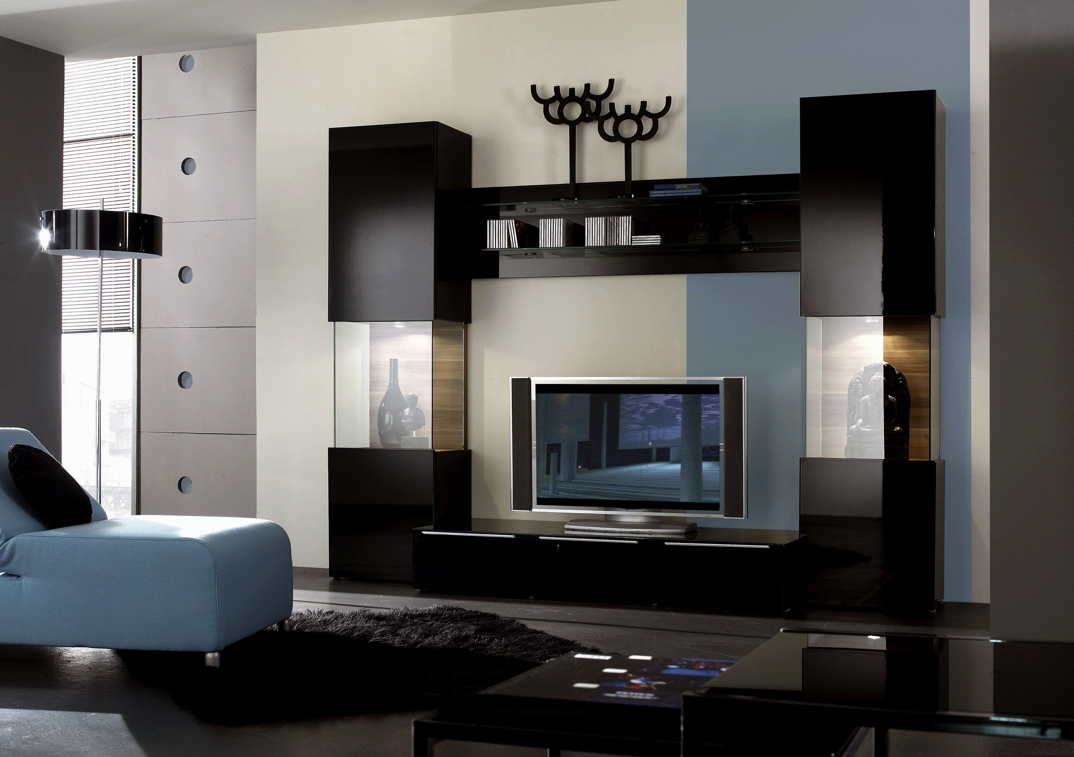 Curvy tv unit Creative Junction Pinterest Modern tv wall