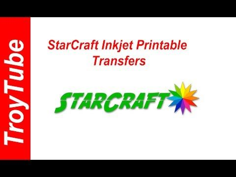 photo about Starcraft Printable Htv named Fresh new Products - Starcraft Inkjet Printable Transfers - YouTube