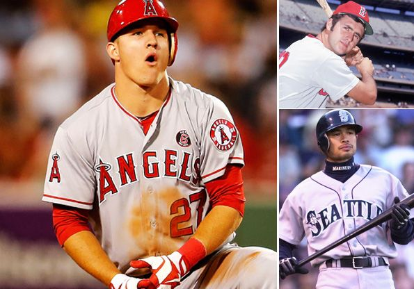 Mike Trout Is Having A Historic First Year But Will It Be Enough For Him To Join Ichiro And Fred Lynn As A Rookie Mvp Mike Trout Baseball Angels Baseball Team