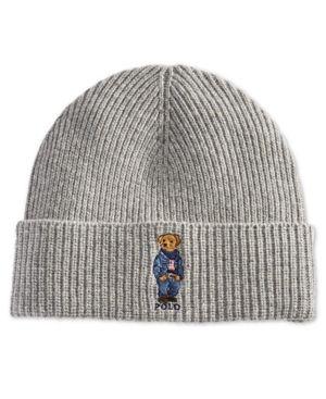 5464f3d9766fd Polo Ralph Lauren Men s Polo Bear Blue Jean Jacket Cuffed Hat - Charcoal