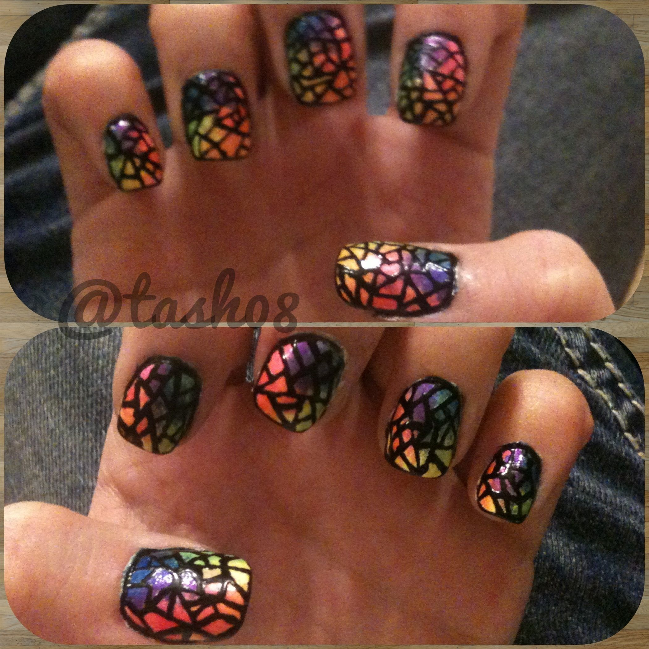Stain Glass Nails | My Nail Art That I Did... :) | Pinterest ...