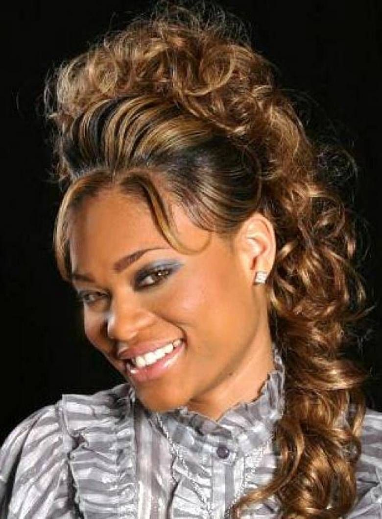 Updo Curly Weave Hairstyles For Black Women