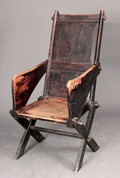 Captivating Primitive Elm Glastonbury Chair In Untouched Condition