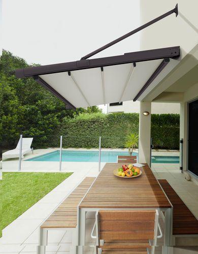 auvent pour terrasse en aluminium en toile. Black Bedroom Furniture Sets. Home Design Ideas