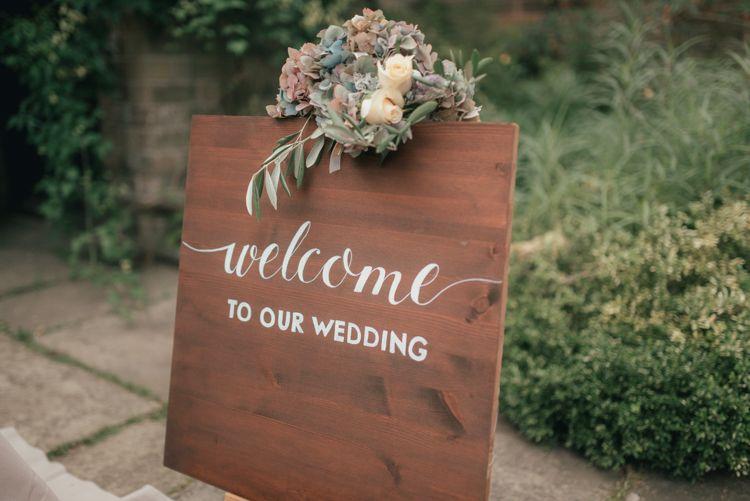 Calligraphy Wooden Sign Flowers Fine Art Boho Luxe Garden Wedding Ideas Http Www
