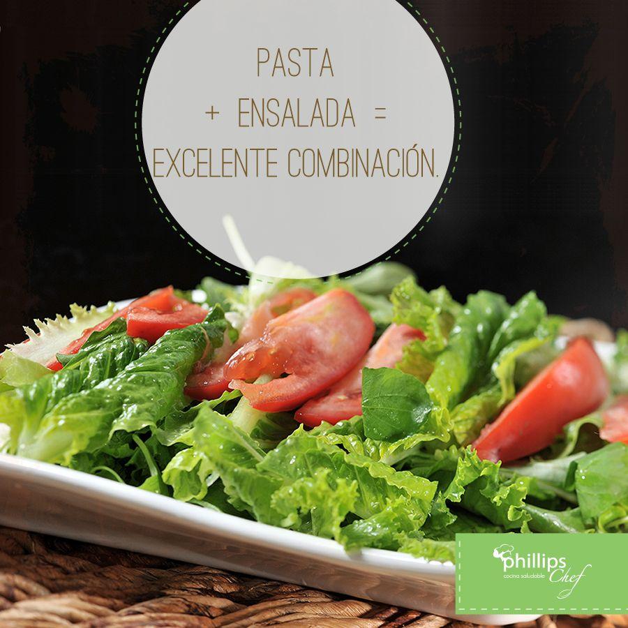 Acompañe los platillos Phillips Chef con una deliciosa ensalada verde.