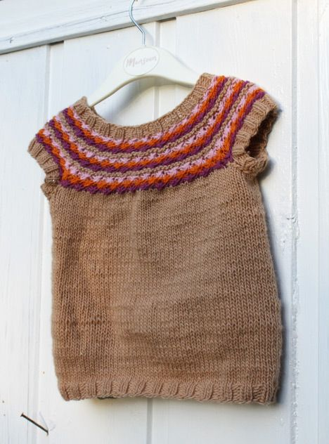 Free Knitting Pattern Baby Sweaters Autumn Leaves Vest Knit