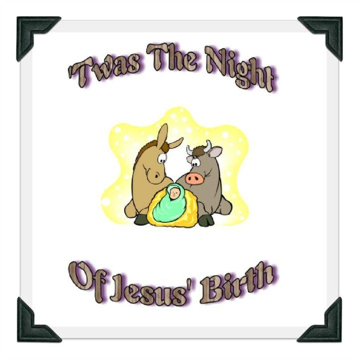 Printable Christmas Story Poem - Twas the Night of Jesus' Birth ...