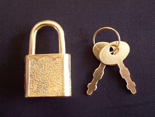 Small Metal Padlock Mini Brass Tiny Toy Luggage//Suitcase Craft Locks Keys 200