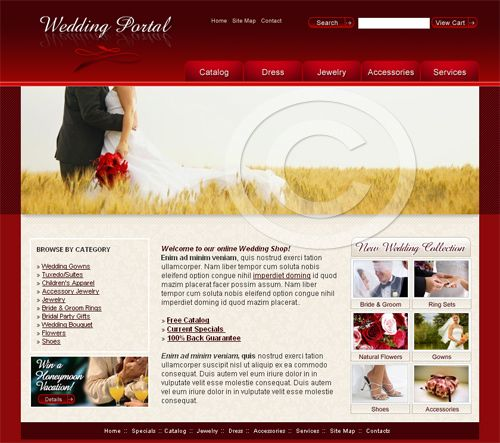 Wedding Website Template #webdesign - More Web Ideas at ...