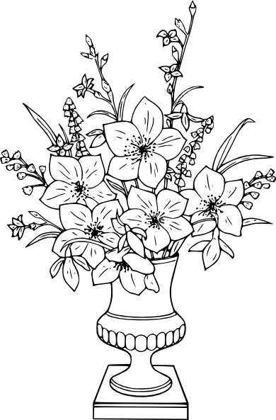 Coloriage bouquet de lis coloriages pinterest - Photo de fleur a dessiner ...