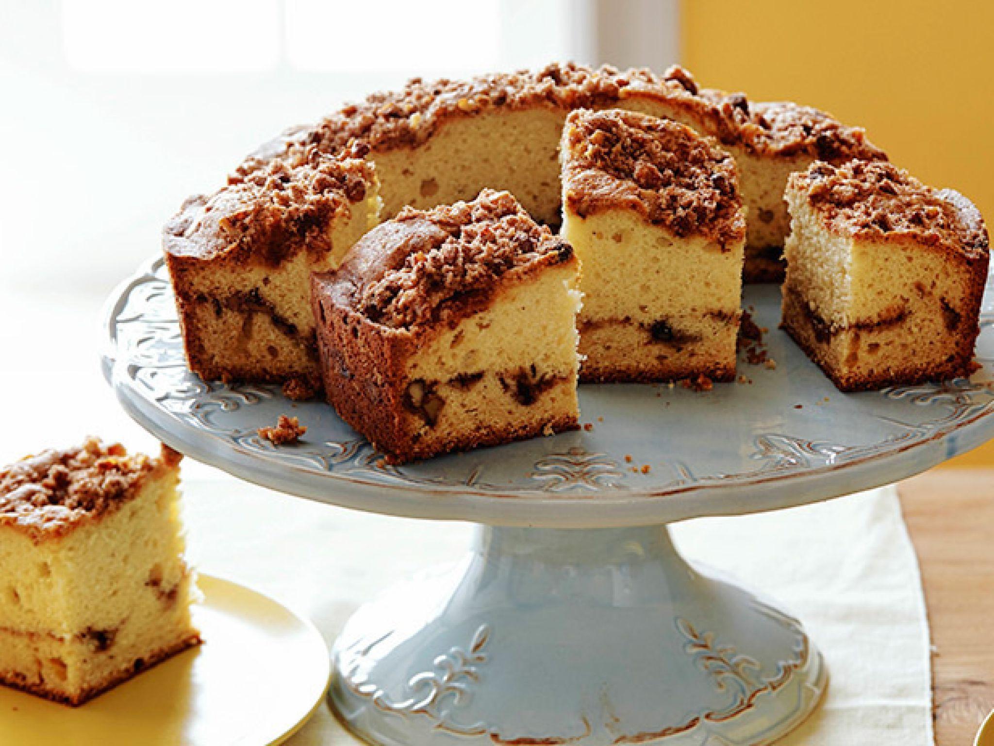 Sour Cream Coffee Cake Recipe Sour Cream Coffee Cake Food Network Recipes Coffee Cake Recipes