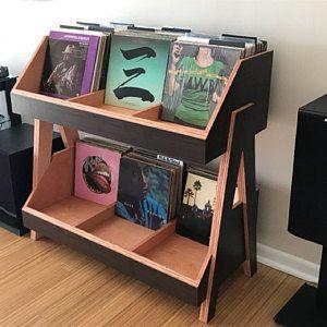 Platenspeler stand en vinyl record opslag console | Etsy