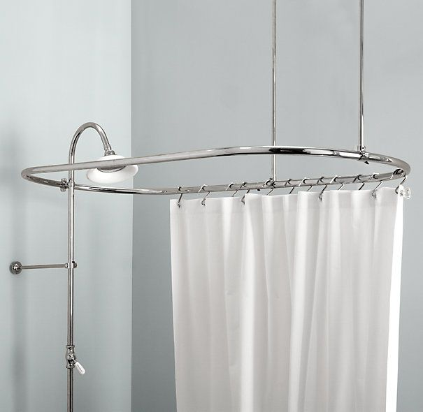 Elegant Oval Shower Rod