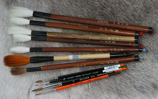 kalligrafiasivellin, siveltimet, painting brush, pensselit, raphael, finest sable, series 7