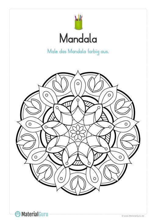 ein kostenloses mandala zum ausmalen für den frühling für
