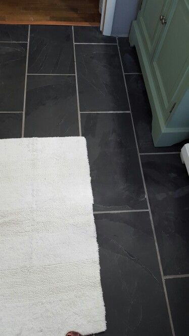 Slate And Dark Grout : Black slate floor from home depot with delorean