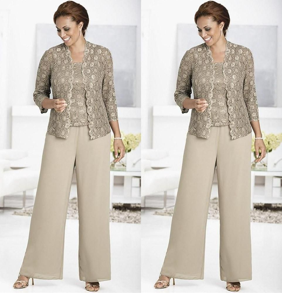 plus size mother of the bride pant suits - Google Search | tea ...