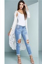 White Lace Cardigan Long | White lace, Clothes and Long white cardigan