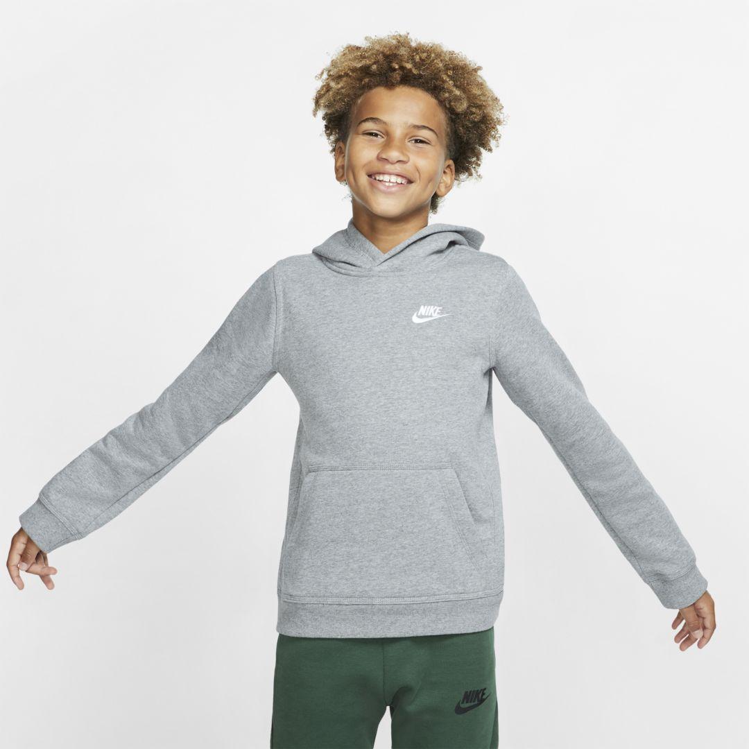 Nike Sportswear Club Big Kids' (Boys') Pullover Hoodie Size