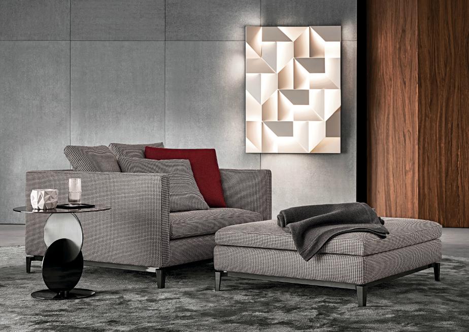 Minotti Armchair Fabric Sofa Design Italian Furniture Design Furniture Design
