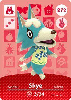 Skye nintendo animal crossing happy home designer amiibo card also best qr codes images videogames new leaf video games rh pinterest
