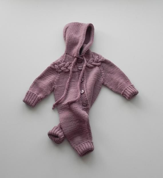 717f95a0d Baby knit overall Wool baby jumpsuit Knit baby clothes Newborn romper  Unisex wool overal Hand knit o