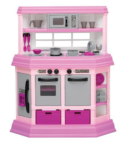 American Plastic Toy Deluxe Custom Kitchen Pink Play Kitchen Toy Kitchen Set Play Kitchen Sets