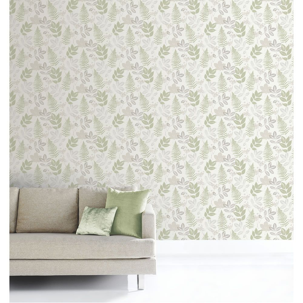 Sanctuary Green Wallpaper Green wallpaper, Feature