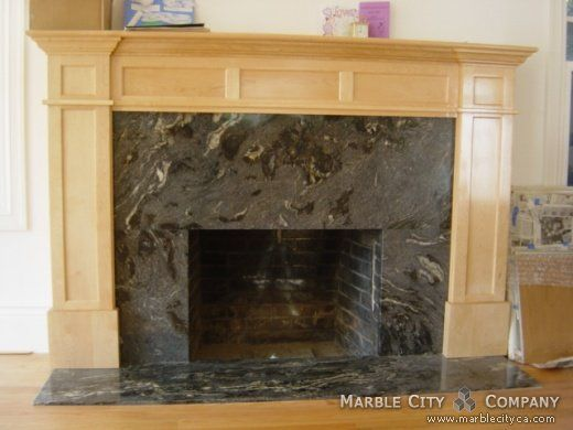 Maybe For Our Leftover Granite Fireplace Fireplace Custom Granite