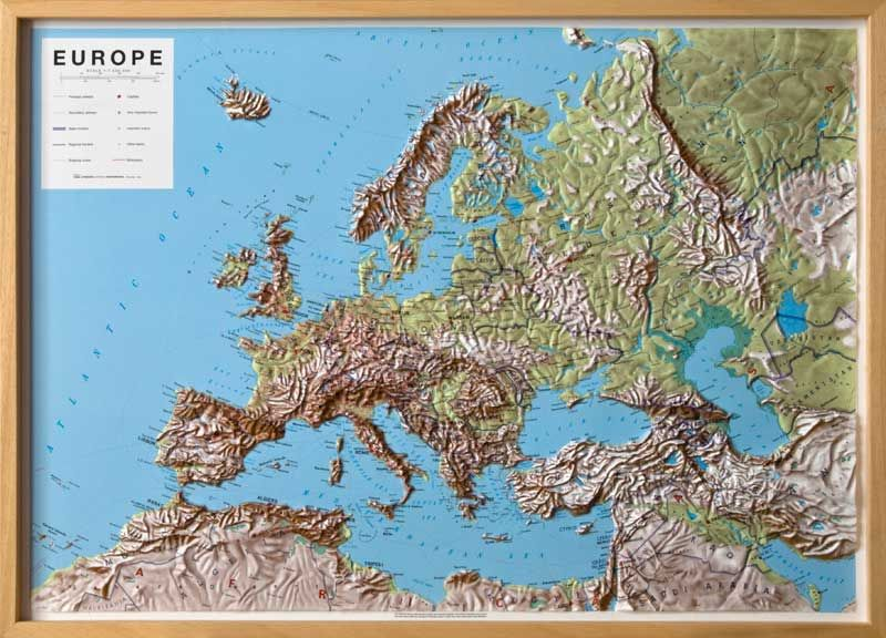 Map Of Europe With Scale.Europe Raised Relief Map Maps Pinterest Map And Raising