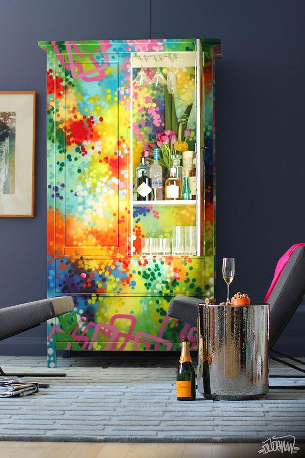 Graffiti Furniture by Dudeman---\u003eToronto-based artist Dudeman