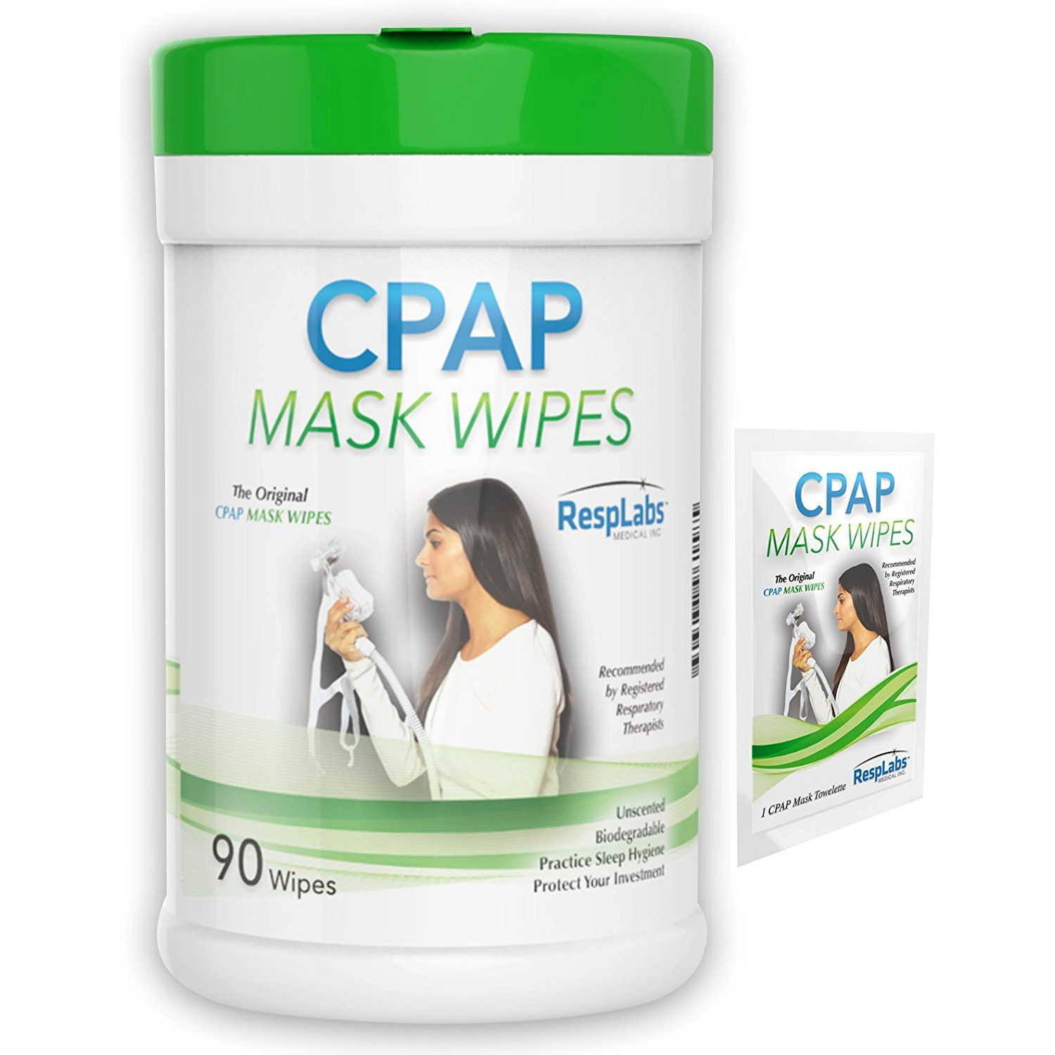 Resplabs Cpap Mask Cleaner Wipes 90 Pack The Original Unscented Cleaning Kitchendining Cpap Mask Cpap Biodegradable Products