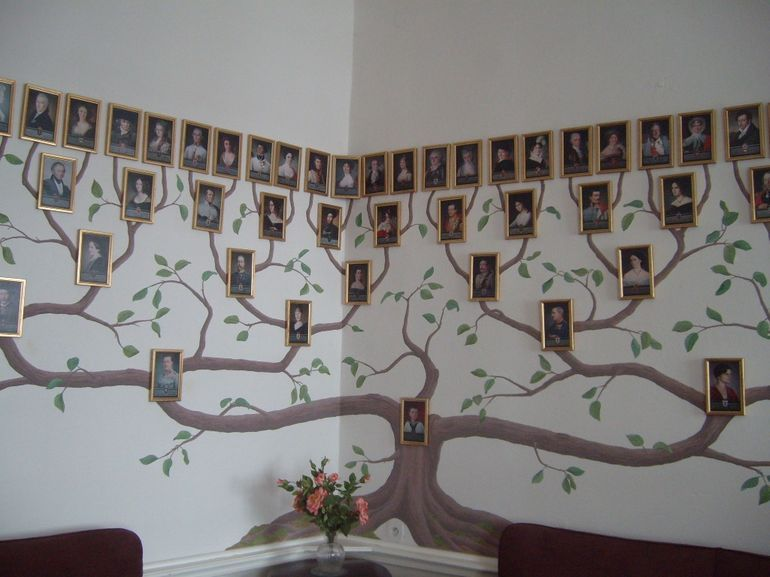 Family Tree Murals For Walls painting a tree on the wall | family tree painted on a wall of