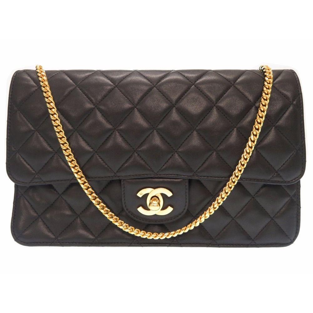 f7a7d95981eb45 chanel Matelasse Chain Shoulder Bag Lambskin Black 0053 Women's ...