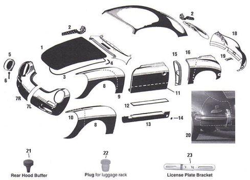 Image Result For Porsche 356 Body Panels Porsche 356 Porsche Porsche Parts