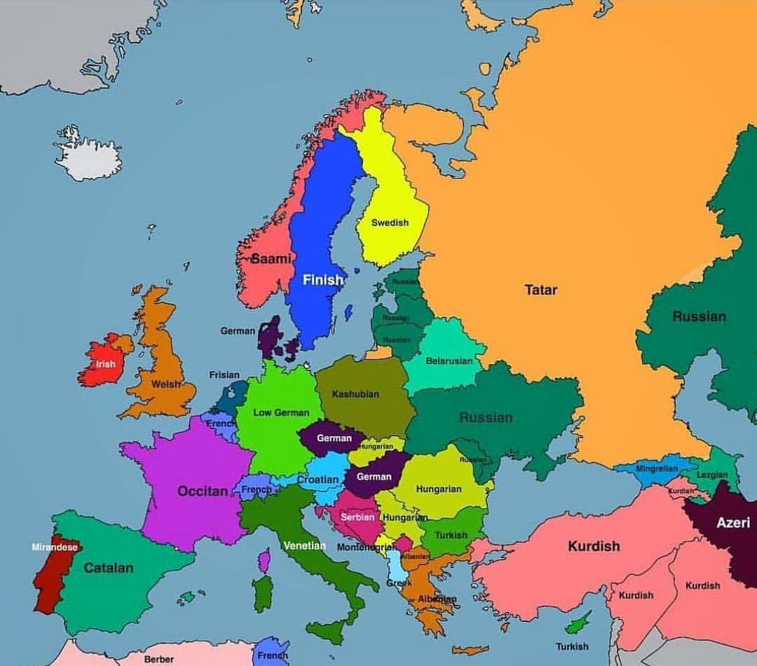 biggest native minority languages in europe and surrounding countries repost from mapsn