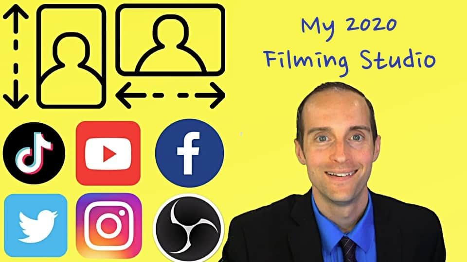How To Film Videos For Youtube And Tiktok With Obs In Vertical Horizontal Profiles Video Film Blog Coaching Youtube Stories