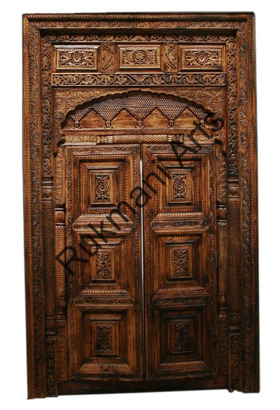 Wooden door design in pakistan doors teak wood doors carved wooden door designs ethnic - Indian home front door design ...