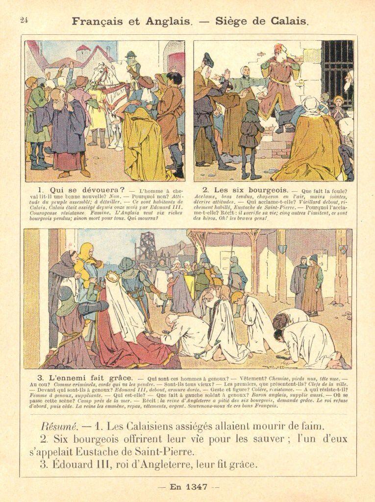 Francais Et Anglais Siege De Calais Histoire De France Histoire Histoire Ancienne