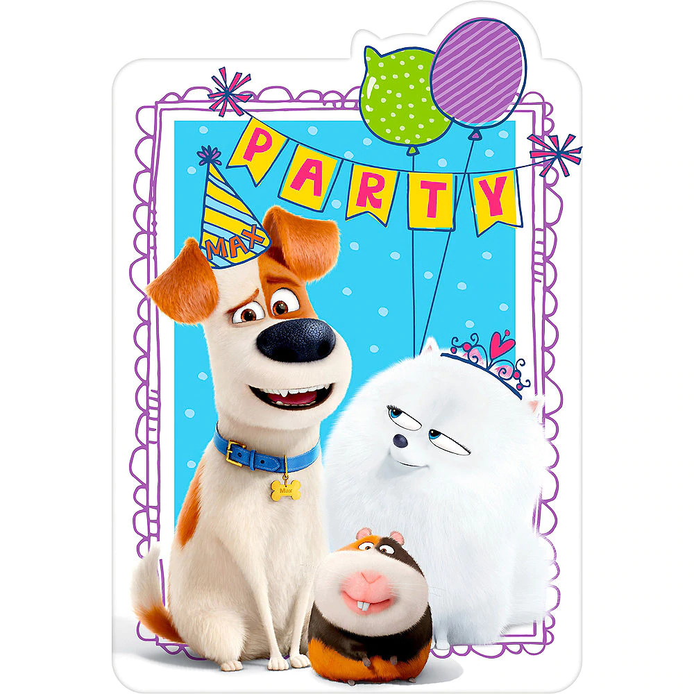 THE SECRET LIFE OF PETS HAPPY BIRTHDAY BANNER ~ Birthday Party Supplies Decor