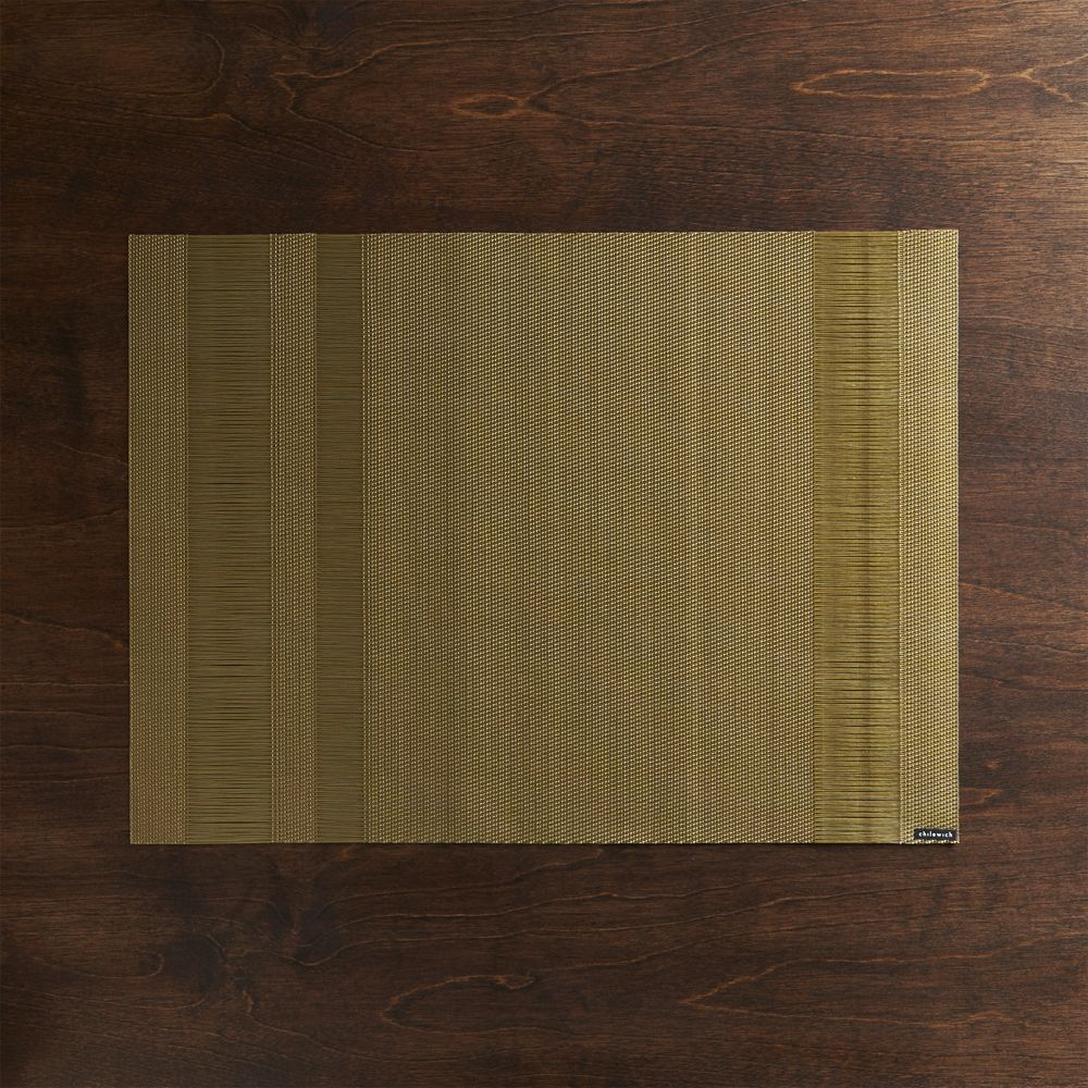 Chilewich ® Tuxedo Gold Vinyl Placemat - Crate and Barrel