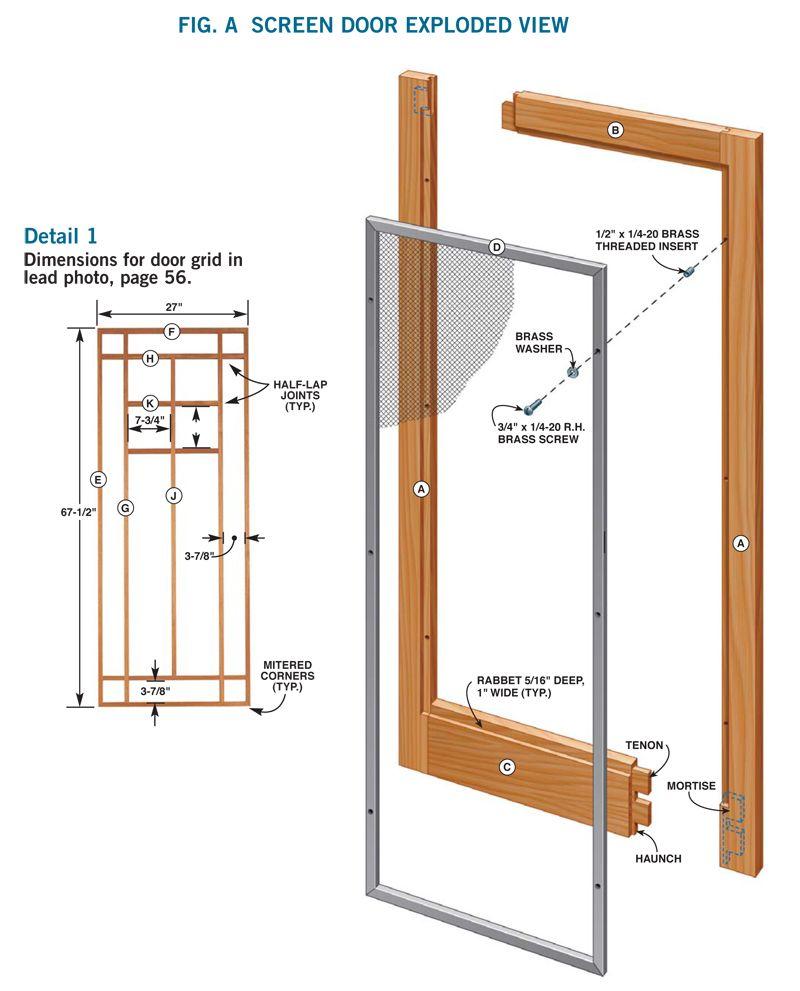 Wooden Storm Door Versatile Design Keeps Winter Winds Out And Lets Summer Breezes In By Tim Johnson A Storm Door D Diy Screen Door Wooden Screen Door Diy Door