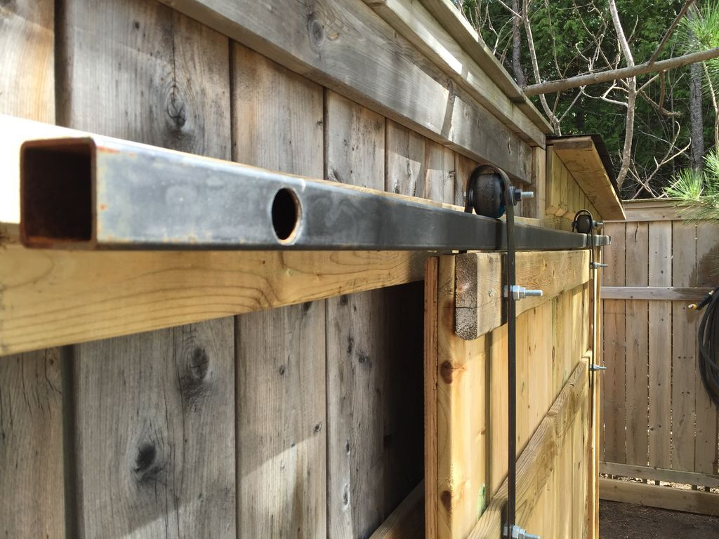 Make Sliding Barn Doors Using Skateboard Wheels Doors