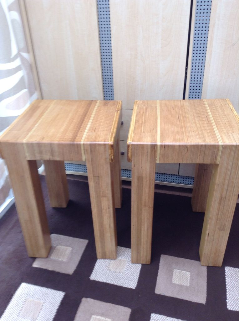 Solid Ply Wood Side Tables Re Ply D Solid Ply Wood Side Tables