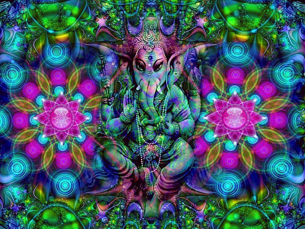 Lord Ganesha Animated Wallpapers Ganesha Psychedelic Art Ganesha Art Ganesh