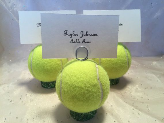 Tennis Ball Place Card Holders Table Holders By