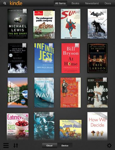 Kindle for iPad has been updated. It adds a handful of new